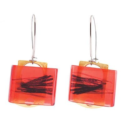 Sketch Earrings Red by Anne-Marie Chagnon