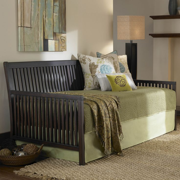 Mission Wood Daybed by Fashion Bed Group   Solid Wooden Daybed Trundle