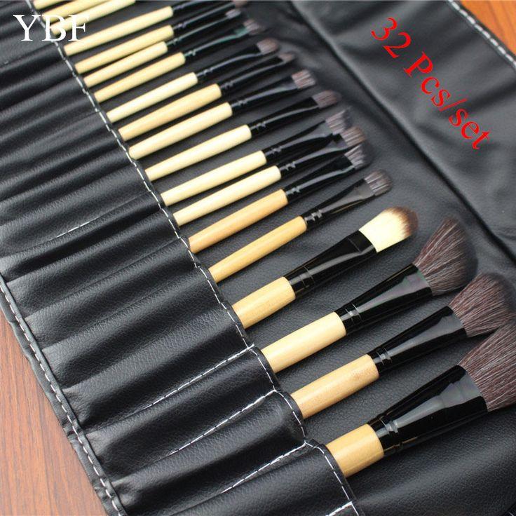 Stock Clearance 32Pcs Print Logo Makeup Brushes Professional Soft Cosmetics Make Up Brush Set The Best Quality kabuki Tools