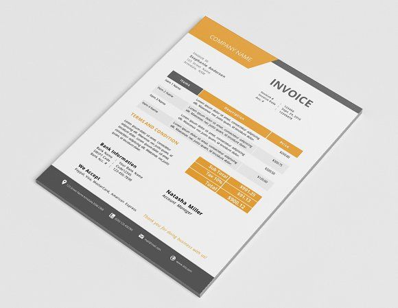 Docx business invoice design by Inkpower on @creativemarket