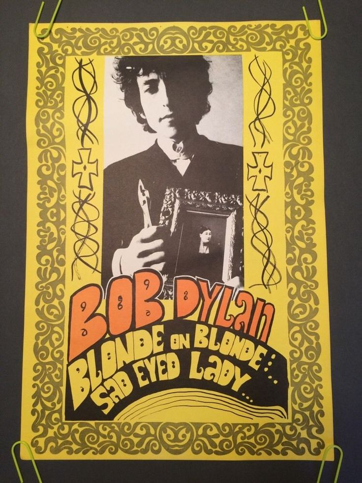 Bob Dylan vintage poster Konst Pin-up Blonde On Blonde Sad Eyes Lady Psychedelic