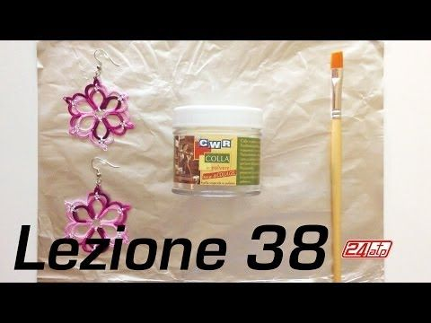 ▶ Chiacchierino Ad Ago - 38˚ Lezione Come Inamidare Indurire Colla Tatting Tutorial How To Stiffen - YouTube