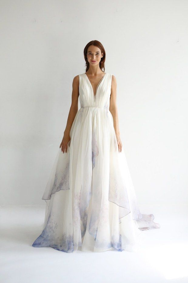 Bridal Fashion Week Wedding Dress Trend Report 2019 Onefabday Com In 2020 Wedding Dresses Wedding Dress Trends Colored Wedding Dresses