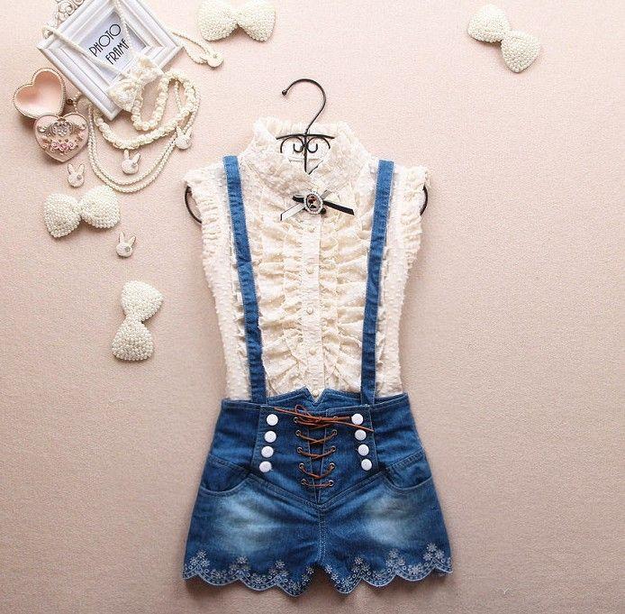 2015 nova primavera trespassado suspensórios cintura alta calça jeans macacão calções bonitos em Shorts de Roupas e Acessórios Femininos no AliExpress.com | Alibaba Group