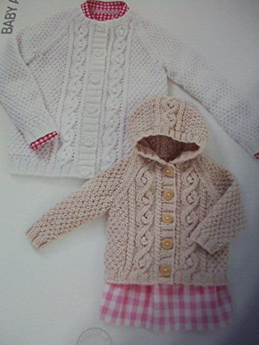 Sirdar (Hayfield) Baby Aran Knitting Pattern 4504. Cardigans. Age Birth - 7…