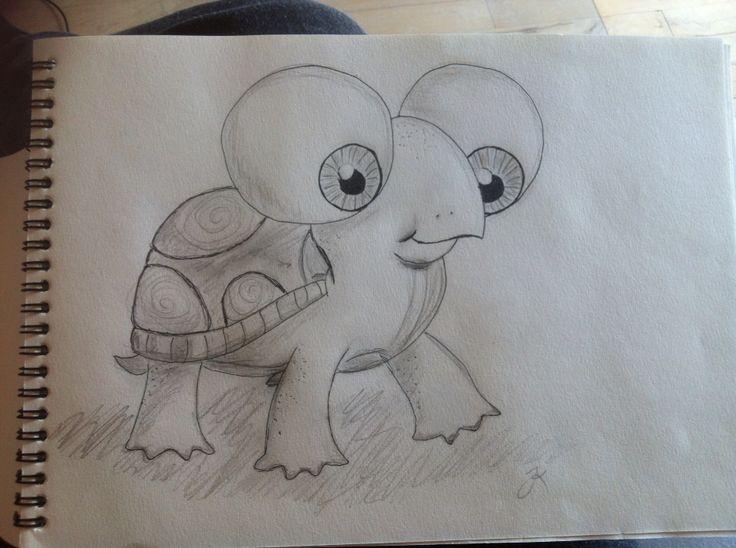 Babyskildpadde - babyturtel