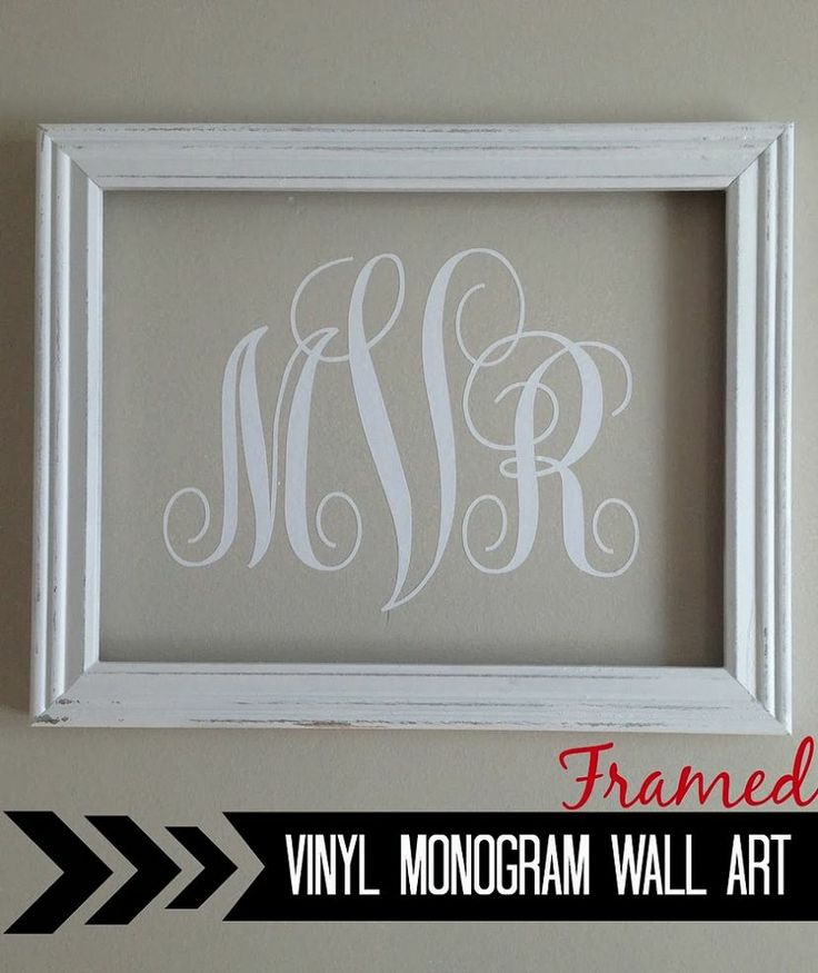Create easy-peasy wall art by framing a monogram.