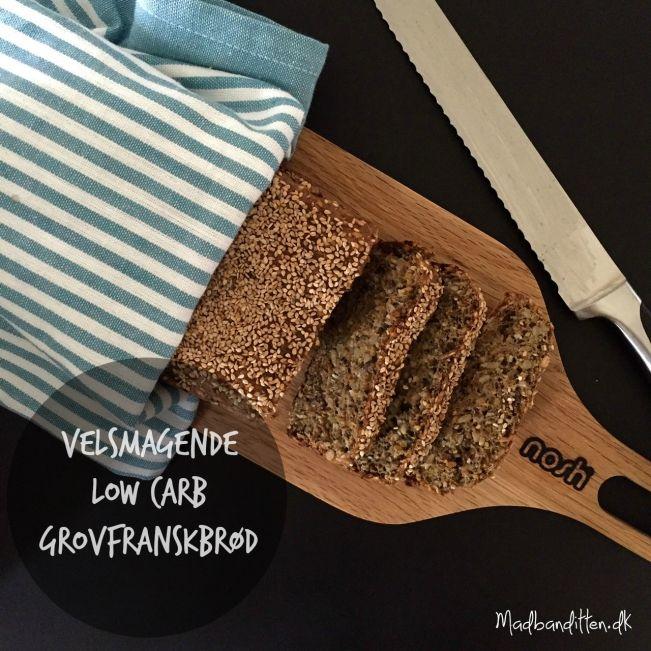 Virkelig velsmagende low carb grovfranskbrød --> Madbanditten.dk