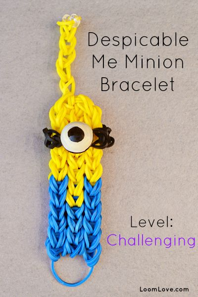 Despicable Me Rainbow Loom Bracelet