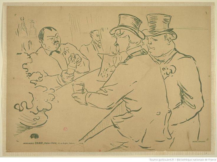 [Irish and American Bar - The Chap Book] : [affiche] ([Épr. d'essai : épr. de trait]) / HTL [Toulouse-Lautrec] ; [monogr.]