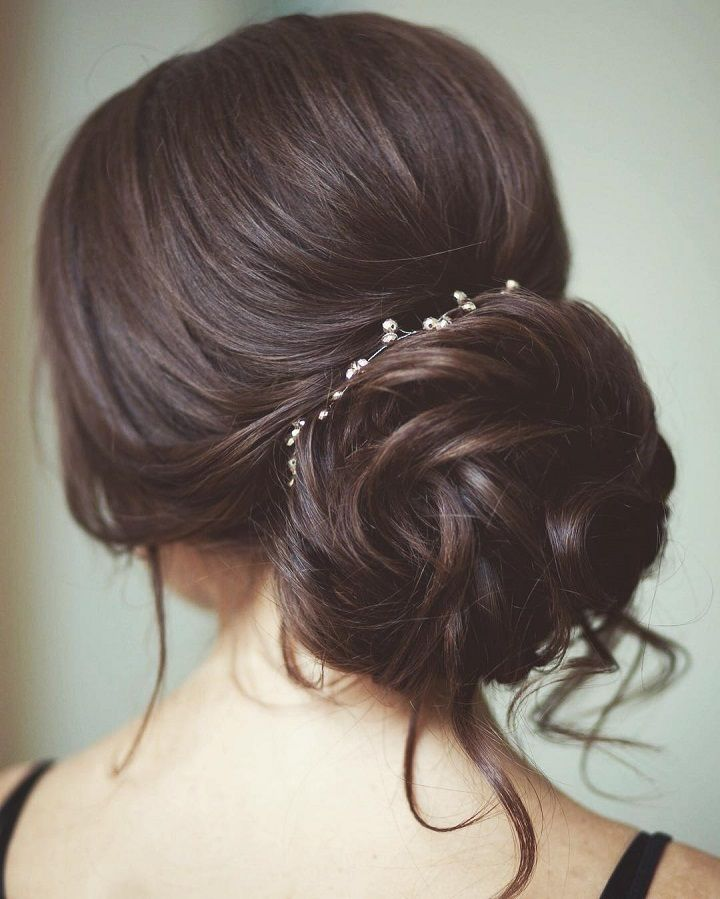 59 best prom hair images on pinterest make up dream wedding this chic low wedding updo hairstyle perfect for any wedding venue pmusecretfo Image collections