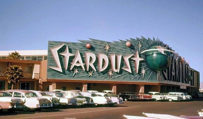 Old Stardust Casino Photograph, Neon Sign - Vintage Las Vegas, NV, 1960 #googie