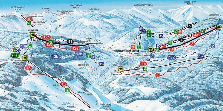 Maps - Spindleruv Mlyn Ski Resort