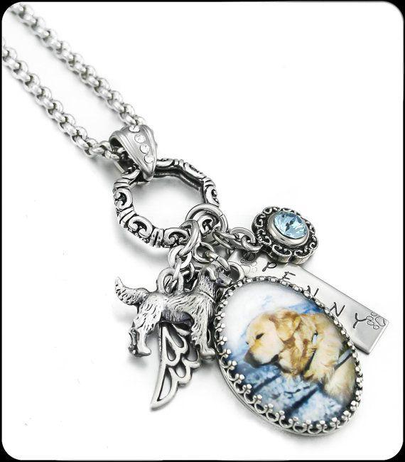 Dog Memorial Necklace, Pet Memorial Necklace, Pet Remembrance Necklace, Dog Memory Necklace, Personalized Pet Memorial Necklace, Loss Of Pet
