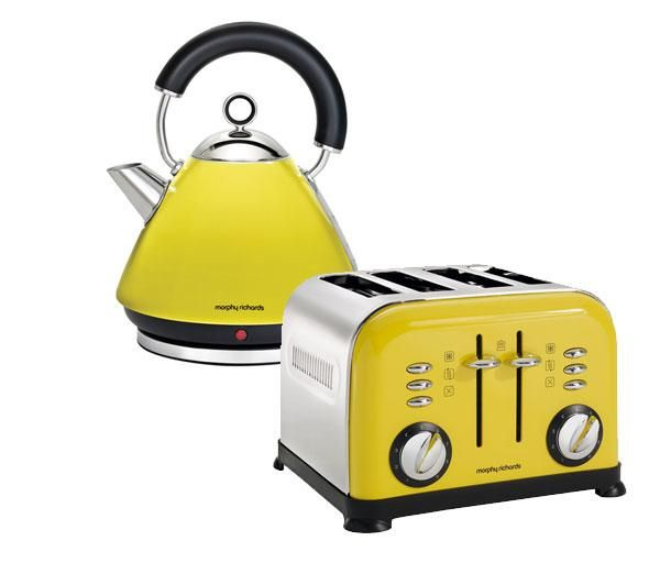 yellow accents 44797 4 slice toaster yellow free delivery