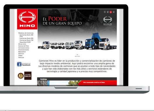 Diseño home website indumotora Hino