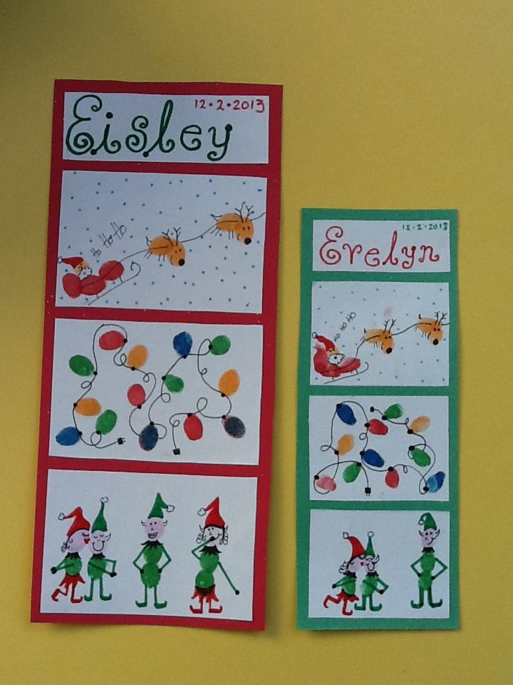 Amazing Infant Christmas Craft Ideas Part - 13: Fingerprint Christmas Craft For The Infants