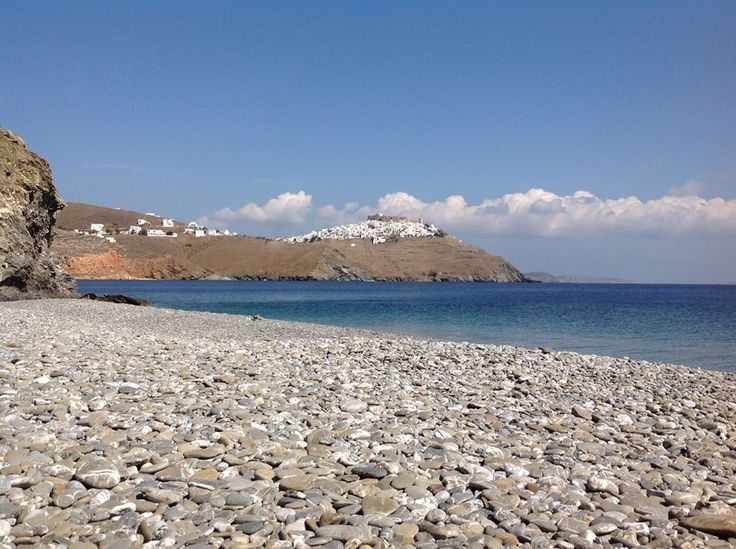 A view to beautiful Chora to get inspired! Do you recognize the beach? (photo: Gerhard Luckner) #Astypalaia #visitgreece #greece #aegeansea
