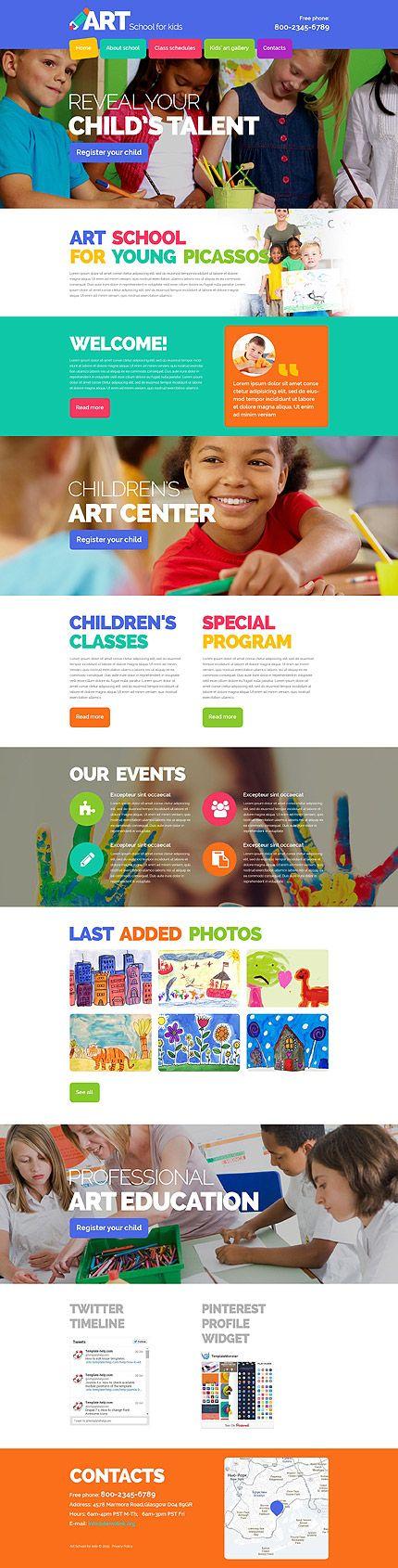 Website Vorlage für Jugend-Kunst-Malschule (Metro-Style)
