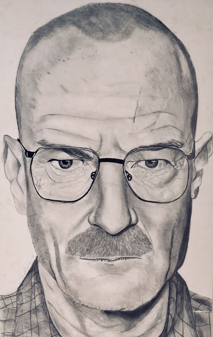 Dessin de Walter White de Breaking Bad.  #alc #bdeb #art #drawing #breakingbad #walterwhite #heisenberg #dessin #cegep #college