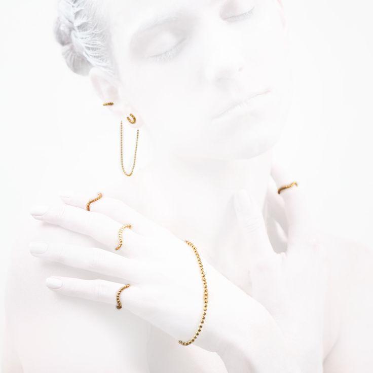'Elegancy in White' Luck Collection #leifoojewelry jewelry # jewelryinspirations #fashion #photography #fashion blogger #catwalkavenuebyandrea #PhotographybyMichaelaVallachova # Artistic # awesomework # Geisha #rings #handlet #earstud #earcuff