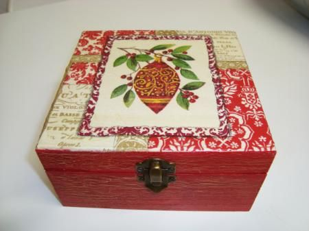 cajas de madera decoradas navideñas - Buscar con Google