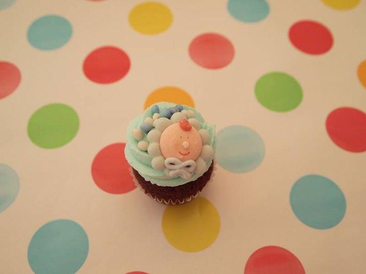 Mini babyshower cupcake