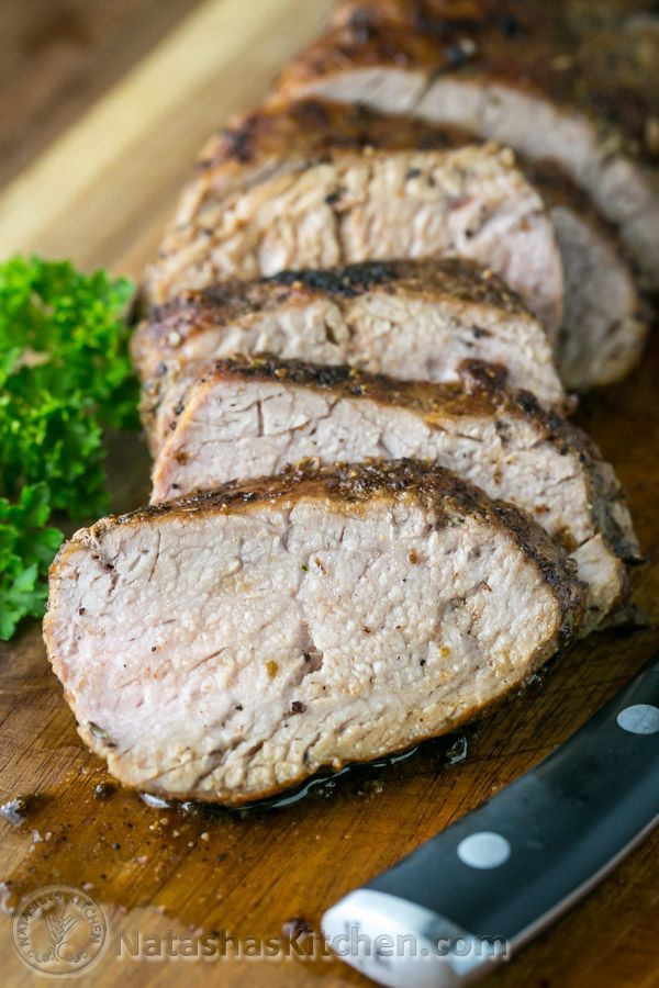 A tried and true, quick and easy method for roasted pork tenderloin. So juicy, tender & delicious!   NatashasKitchen.com