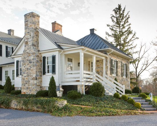 Great Beautiful Rock Siding For Houses: Cedar Siding And Trim On The Addition At Traditional  Exterior Nice Ideas