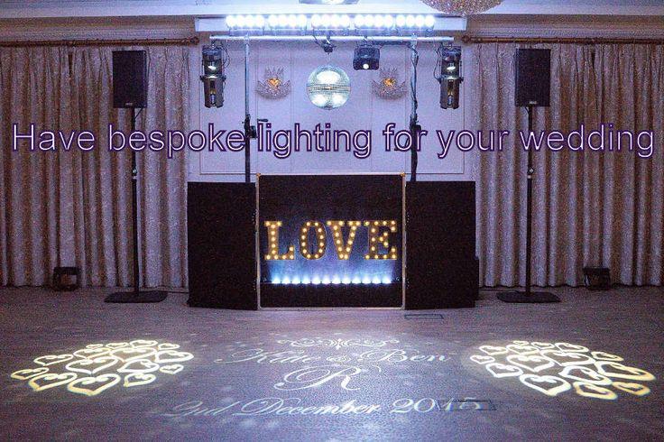 Have bespoke lighting for your wedding - DJ Martin Lake