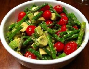 Asparagus, Tomato and Avocado Salad