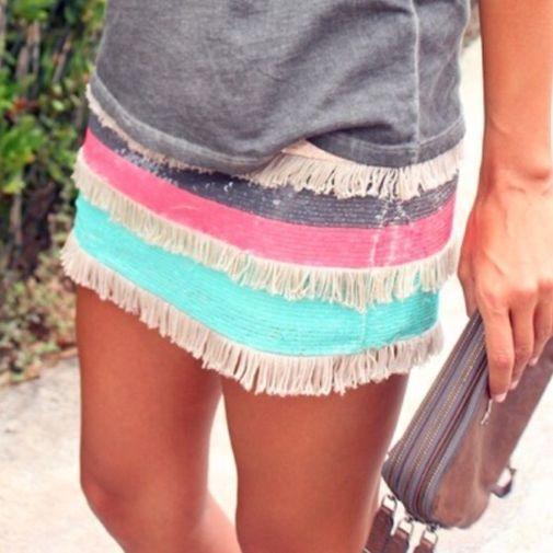 Falda lentejuelas y flecos Zara - Chicfy
