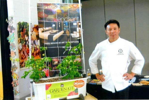 """Executive Chef Duncan Ly paid a visit to McKenzie Lake School for the students' """"Celebration of Learning""""."""