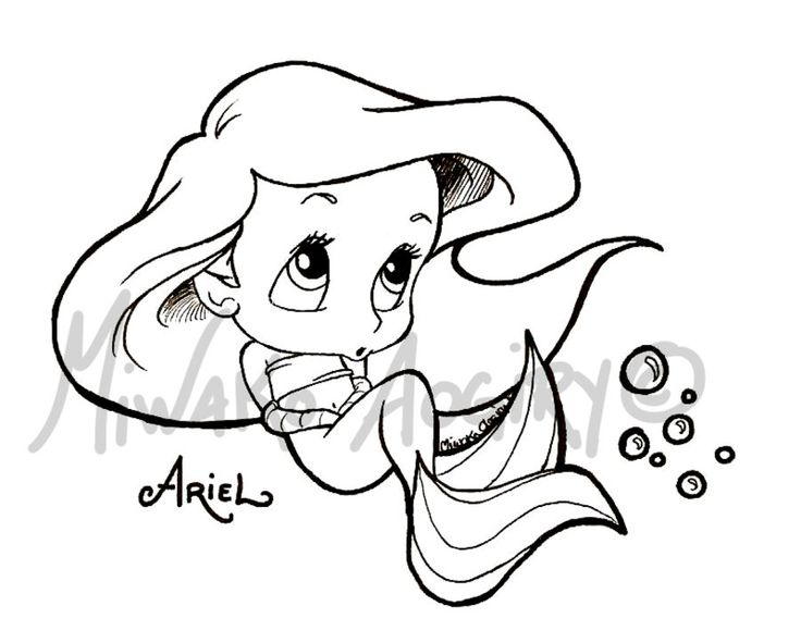 disneys baby ariel coloring pages - photo#5