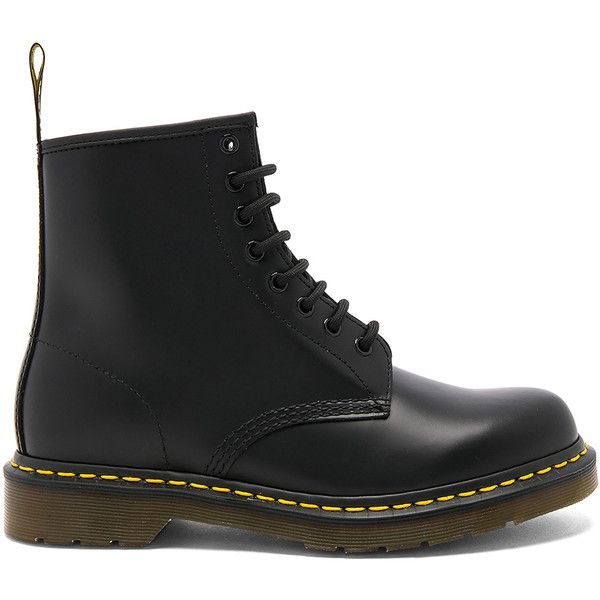 Dr. Martens 1460 8 Eye Leather Boots (165 CAD) ❤ liked on Polyvore featuring men's fashion, men's shoes, men's boots, shoes, dr martens mens boots, mens leather boots, dr martens mens shoes, mens leather lace up boots and low heel mens dress shoes