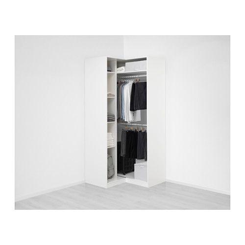 pax eckkleiderschrank wei grimo wei holzbalken. Black Bedroom Furniture Sets. Home Design Ideas