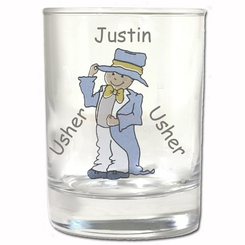 Personalised Cartoon Wedding Little Usher Juice Glass  from Personalised Gifts Shop - ONLY £9.95