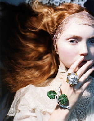 Lily Cole by Sophie Delaporte for Vogue Japan