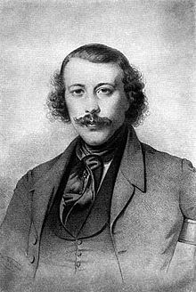 The young Mikhail Bakunin, illustrated in 1843.