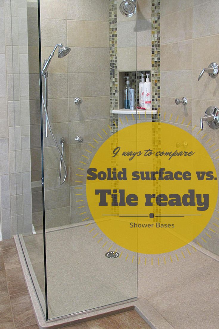 Learn 9 ways to compare a solid surface shower pan to a solid surface base - http://innovatebuildingsolutions.com/products/bathrooms/solid-surface-shower-pan-wall-panels