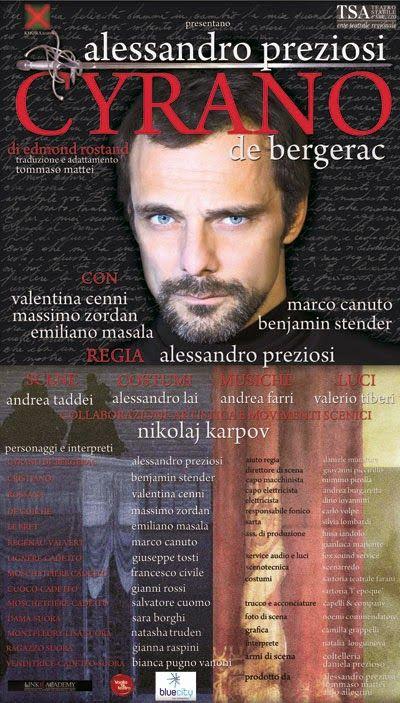 Alessandro Preziosi e il suo Cyrano http://streamofee.blogspot.it/