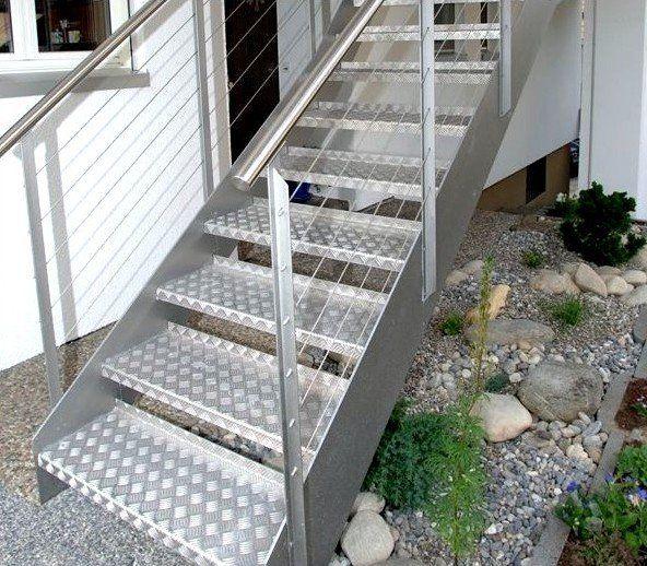 escalier exterieur sur mesure