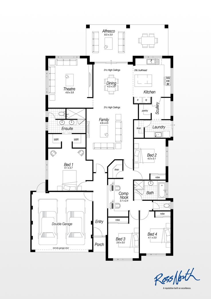 the brunswick ross north homes house floor plans