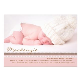 Best Birth Announcement Wording Images On Pinterest Birth - Baby announcement wording