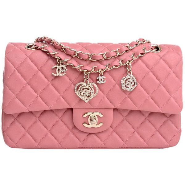 Chanel Limited Edition Pink Quilted Valentine Charm Flap Bag (47.520 ARS) ❤ liked on Polyvore featuring bags, handbags, chanel, chanel purses, quilted handbags, pink quilted handbag, red heart purse and pink heart purse