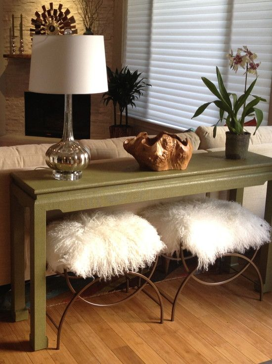 furniture eclectic living room with classic olive behind sofa table also metal stool with white - White Sofa Table