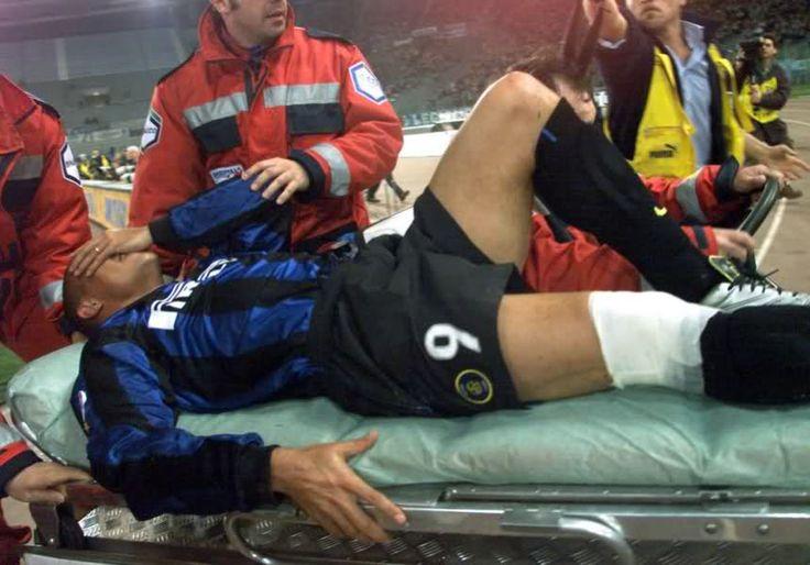 Ronaldo y su lesión de rodilla.