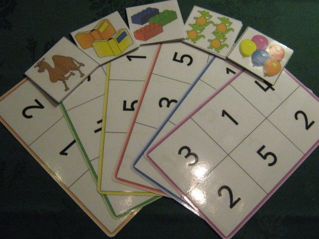 Numbers 1 - 5 with 'Bingo' Fun while learning.