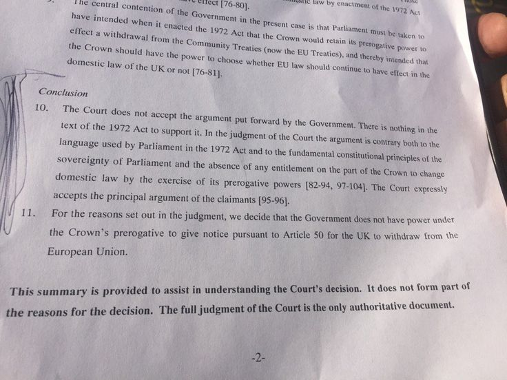 CwVJL6DW8AEjdsJ.jpg (1024×768) High Court Judgement on triggeri g Article 50