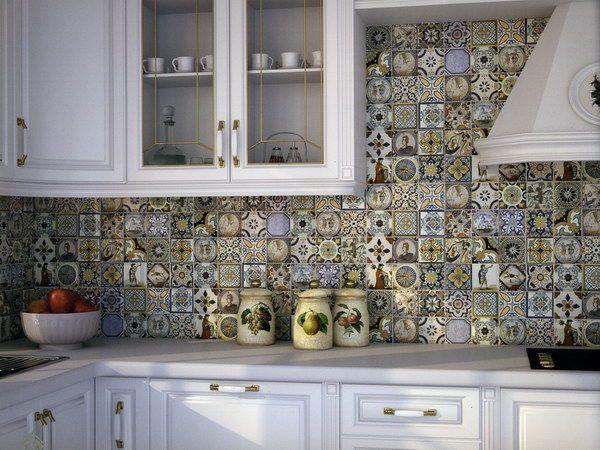 кухня фартук мозаика - Поиск в Google
